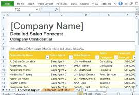 Download By Project Forecasting Template Revenue Month Sales