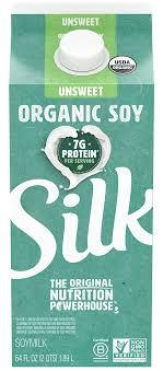 silk organic unsweetened soymilk