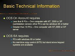 ocs systems ocs sa ocs on account photocopy