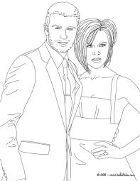 David And Victoria Beckham Coloring Pages Hellokidscom