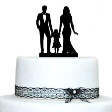 Cake Decorating Accessories Wholesale Wholesale Custom Family Silhouette Wedding Cake Topper with Girl 60