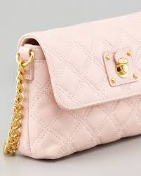 Marc Jacobs Single Quilted Large Crossbody Bag, Pale Pink & Single Quilted Large Crossbody Bag, Pale Pink Adamdwight.com
