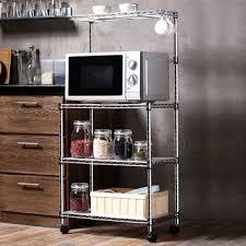 metal rack in microwave. Perfect Rack Home Usage Floor Standing Metal Chrome Microwave Oven Rack On In