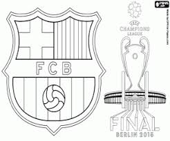 Barça Champions League 2014 2015 Coloring Page Printable Game