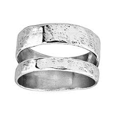 Silpada Double Spaced Two Bar Ring In Sterling Silver
