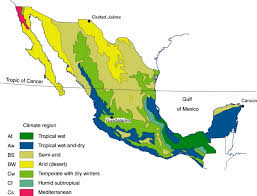 World Climate Zone Chart Mexicos Seven Climate Regions Geo Mexico The Geography