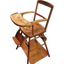 vintage wooden high chair potty chair and play chair in one antique high chairs wooden