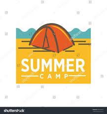 Awning Logo Design Summer Camp Advertising Logo Design Awning Stock Vector