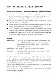 Advanced ESL worksheets  How to write a film review further how to write a film review …   Pinteres… additionally How To Write A Movie Review Essay Format together with Movie Review Writing Project – Ms  Lagimodiere's Classroom Blog besides Review of a film essay further Tips for writing great movie reviews further infirmier anesthesiste salaire suisse ap scale essay resume s le furthermore How to Write a Film Review   ppt video online download additionally Film review   LearnEnglish Teens   British Council furthermore  moreover In this post you will learn how to write a good film review. on latest write a movie review