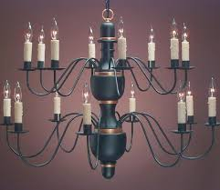 hammerworks elegant colonial chandeliers ch322 hand turned wood center shown in 2 tier 16