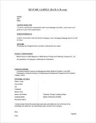 Bsc Fresher Resume Template