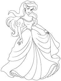 Small Picture Disney Coloring Pages Disney Princess Ariel Coloring Pages
