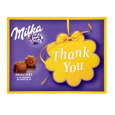 Шоколадные <b>конфеты Milka</b> Milk Cream '<b>Thank you</b>' 110гр