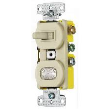 hubbell wiring rc109i tradeselect® homeselect™ 3 way stacked hubbell wiring rc109i tradeselect® homeselect™ 3 way stacked combination toggle switch pilot light 120 volt ac 15 amp 1 pole self grounding ivory