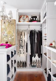 walk in closet decoration idea for girl bedroom using white chandelier lamp shade and white wood