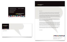 Professional Stationery Template Human Resource Management Business Card Letterhead Template Word