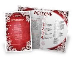 Christmas Program Theme Christmas Theme Brochure Template Design And Layout