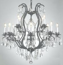 wrought iron chandelier with crystals