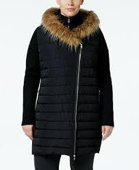 plus size parka calvin klein performance plus size faux fur trimmed coat coats