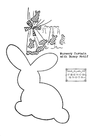 Free Bunny Pattern Template Cool Design Ideas