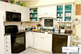 Green And White Kitchen Open Cabinets With White Aqua Lime Green Silver Accents Mom