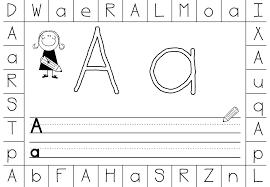 Kindergarten Alphabet Worksheets A Z   Homeshealth.info