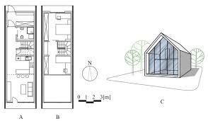 design of the residential building tubular house a ground floor plan