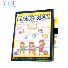 yiqu hot magic water drawing book coloring book doodle educational pen painting gift learning toys for