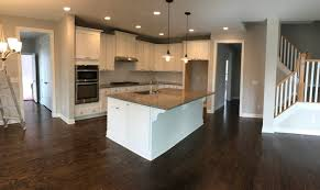 the kitchen colors were totally being reversed the flooring went dark and the cabinets went light
