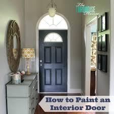Interior Door paint interior doors photographs : How to Paint an Interior Door: Hale Navy   The Turquoise Home
