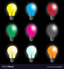 Where Can I Buy Coloured Light Bulbs Color Light Bulbs Light Source Eps10