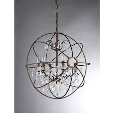 warehouse of tiffany chandelier. Warehouse Of Tiffany Edwards 6-Light Antique Bronze Sphere Crystal Chandelier With Shade F