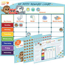 Potty Training Chart For Girls Boys Multiple Kids By Learn Laugh Love Kids Potty Reward Chart For Toddlers Motivates And Rewards Potty Training