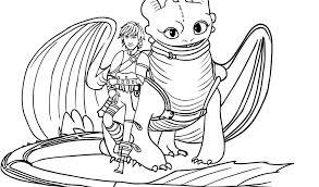 Disegno Di Hiccup E Sdentato Il Drago Da Colorare Con Disegni Di