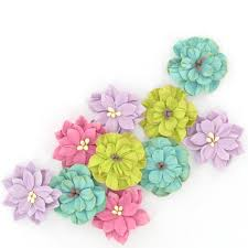 Buy Paper Flower Assorted Paper Flowers 10 Pack