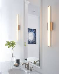 lighting ideas for bathrooms. The Sleek Domed Acrylic Diffusor Of Finn Bath Vanity Light From Tech Lighting Discreetly Softens LED Source While Providing Great Wide-angle Ideas For Bathrooms H