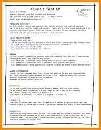 My First Resume Awesome How To Write A Good For Student My First Resume Template Job