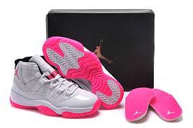 jordan shoes 11 pink. 2015 air jordan 11 gs white pink shoes