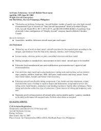 Sheet Metal Worker Resume Resume Template Sample Resume For Tech Gorgeous Aircraft Sheet Metal Resume