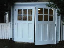 swing open garage doors swinging swing out or swingout real carriage house garage doors