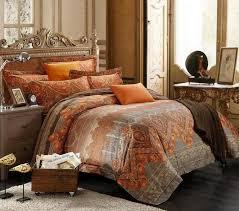 burnt orange comforter sets appealing brown and burnt orange bedding