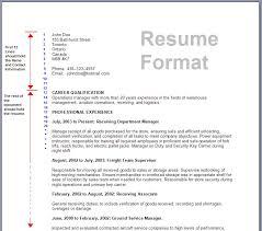 New Resume Format Resume