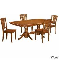 microfiber dining room chair covers here s a great deal on naav5 sbr brown rubberwood 5 piece