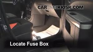 interior fuse box location chevrolet hhr  locate interior fuse box and remove cover