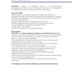 Resume For Manager Position And Get Ideas To Create Your With The ...