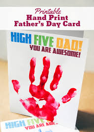 Day Cards To Print Printable Hand Print Father S Day Card Pepper Scraps