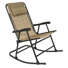 best choice s folding rocking chair rocker outdoor patio furniture beige
