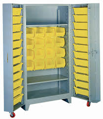 Storage Bin Cabinet Lyon All Welded Storage Cabinets With Bins Bin Storage Cabinets