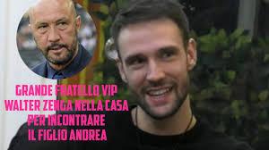 grande Fratello Vip 5 - Walter Zenga nella Casa per incontrare il figlio  Andrea - YouTube