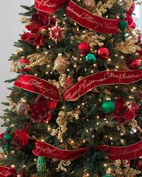 christmas trees decorated with red ribbon. Unique Ribbon Bold Red Christmas Tree Ribbon Alt For Trees Decorated With N